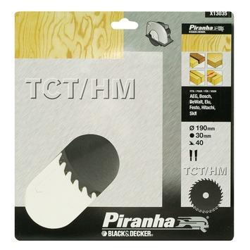 Piranha cirkelzaagblad X13035 standaard TCT/HM 190x30 mm 40 tanden