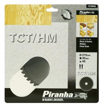 Piranha cirkelzaagblad X13045 standaard TCT/HM 210x30 mm 48 tanden