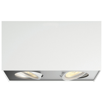 Philips Opbouwspot MyLiving Box LED Wit 2 x 4.5W