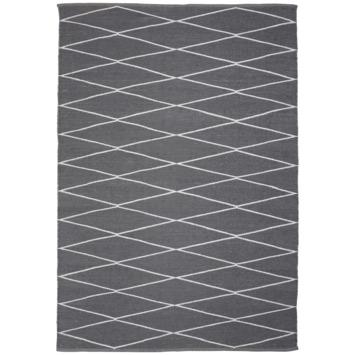 Vloerkleed Vera grijs/ wit 160x230 cm voor binnen en buiten