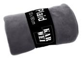 Plaid fleece 130x180 antraciet
