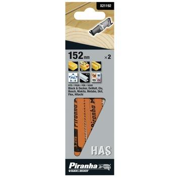 Piranha reciprozaagblad X21192 HAS 152 mm (2 stuks) voor hout en metaal