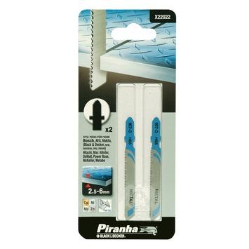 Piranha decoupeerzaagblad X22022 T-schacht (2 stuks) voor metaal