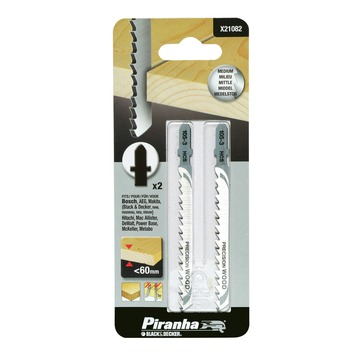 Piranha decoupeerzaagblad X21082 U-schacht (2 stuks) voor hout