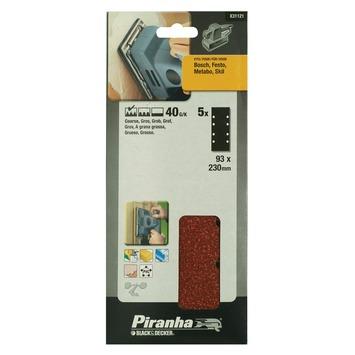 Piranha schuurpapier X31121 K40 230x93 mm (5 stuks)
