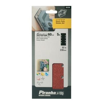 Piranha schuurpapier X31126 K60 230x93 mm (5 stuks)