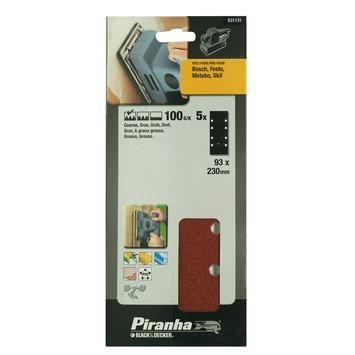 Piranha schuurpapier X31131 K100 230x93 mm (5 stuks)