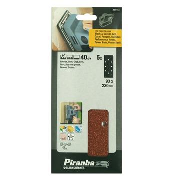 Piranha schuurpapierX31151 K40 230x93 mm (5 stuks)