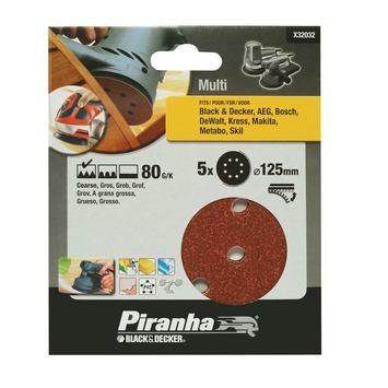 Piranha schuurschijf X32032 K80 125 mm (5 stuks)