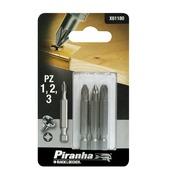 Piranha schroefbitset X61180 PZ1/2/3 50 mm (3-delig)