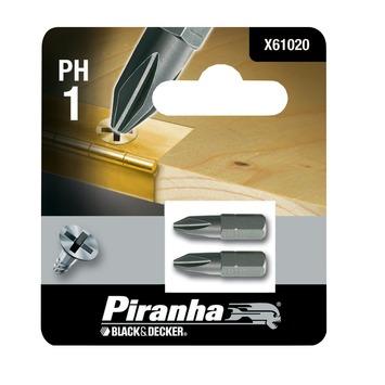 Piranha schroefbit X61020 PH1 25 mm (2 stuks)