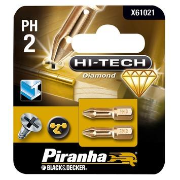 Piranha HI-TECH schroefbit X61021 PH2 25 mm (2 stuks)