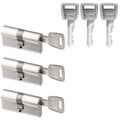 NEMEF veiligheidscilinder 30/30 mm SKG 2-sterren gelijksluitend (3 stuks)