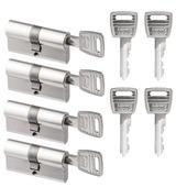 NEMEF veiligheidscilinder NF2 30/30 mm SKG 2-sterren gelijksluitend (4 stuks)