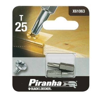 Piranha schroefbit X61063 T25 25 mm (2 stuks)