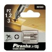 Piranha schroefbitset X61043 PZ1/2/3 25 mm (3-delig)