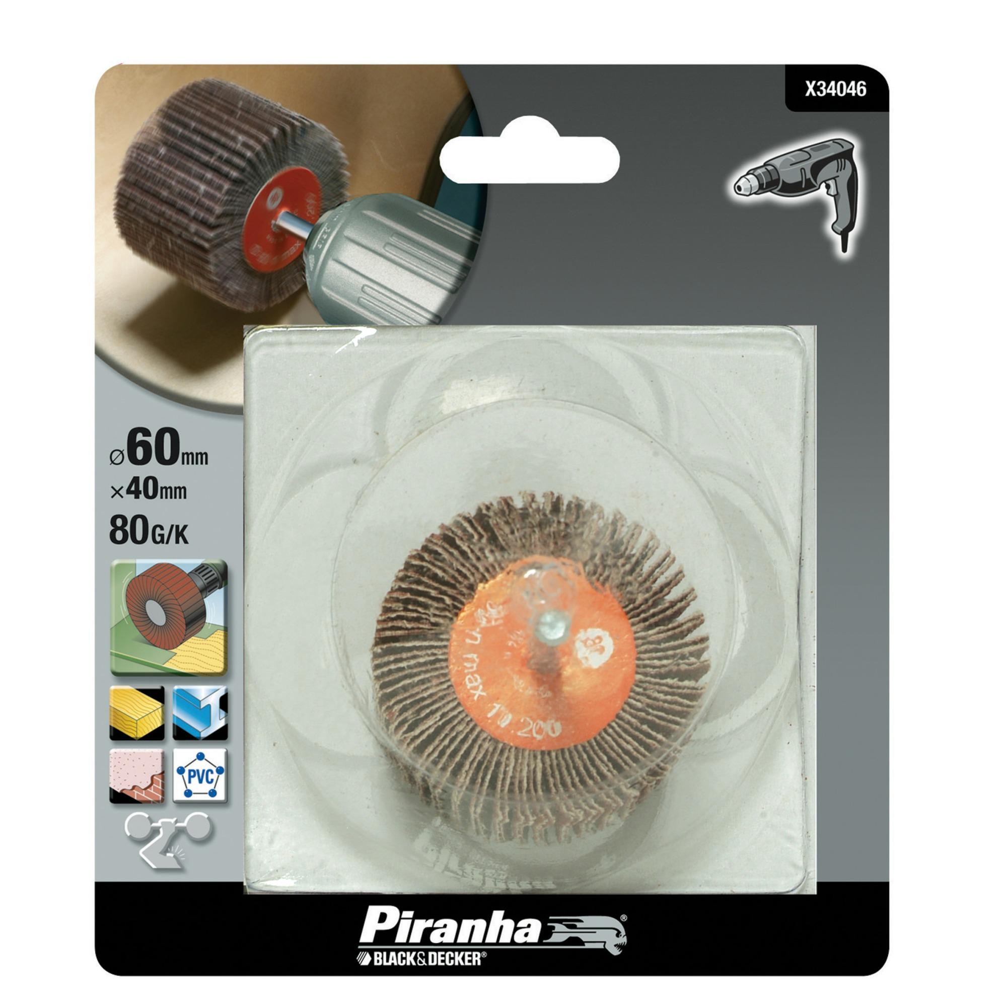 Piranha lamelschuurwiel X34046 K80 40 mm