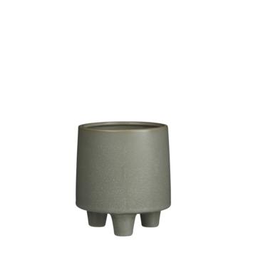Pot manuel rond groen 16 x 14,5 cm