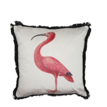 Kussen Ibis roze 45 x 45 cm