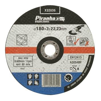 Piranha doorslijpschijf metaal X32035 3,2x180 mm