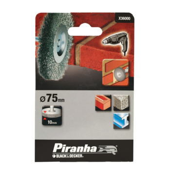 Piranha staaldraadborstel X36000 75 mm