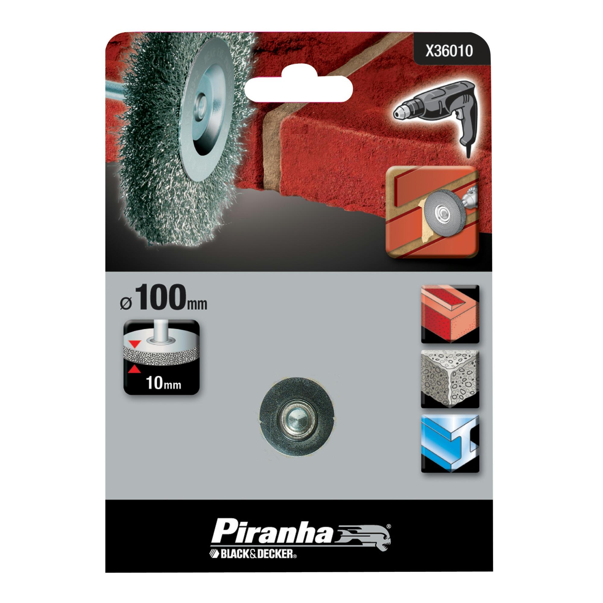 Piranha staaldraadborstel X36010 100 mm voor beton, metaal en steen