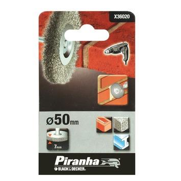 Piranha staaldraadborstel X36020 50 mm voor beton, metaal en steen