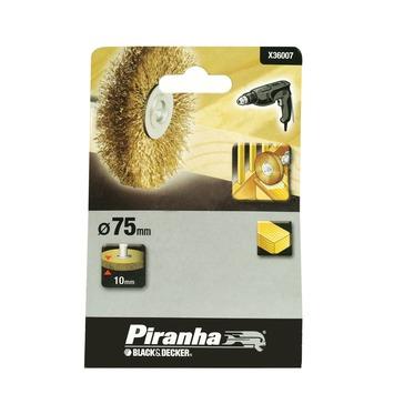 Piranha staaldraadborstel X36007 messing 75 mm voor hout