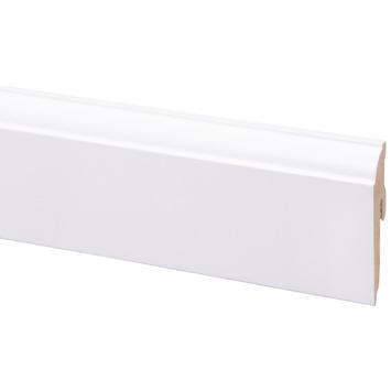 CanDo muurplint kwartrond wit 1258 clip 240 cm