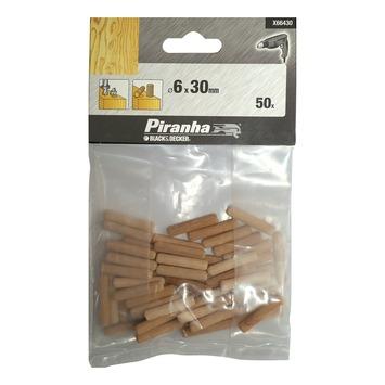 Piranha deuvels X66430 6x30 mm (50 stuks)