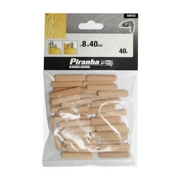 Piranha deuvels X66432 8x40 mm (40 stuks)
