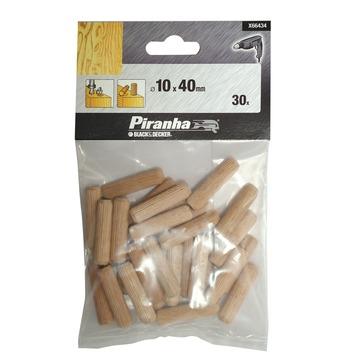 Piranha deuvels X66434 10x40 mm (30 stuks)