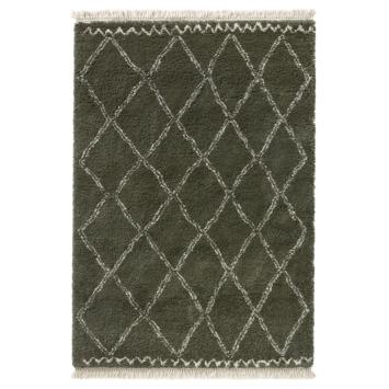 Varamin Vloerkleed Donker Groen/Wit 35 mm 120x170 cm