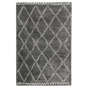 Varamin Vloerkleed Donker Grijs/Wit 35 mm 120x170 cm