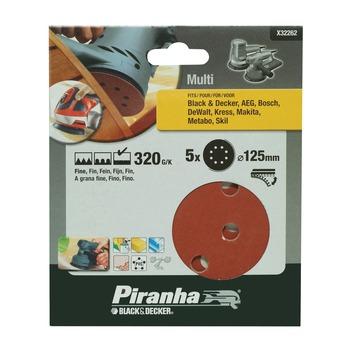 Piranha schuurschijf X32262 K320 125 mm (5 stuks)