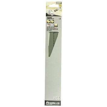 Piranha reciprozaagblad X21252 HCS 305 mm (2 stuks) universeel