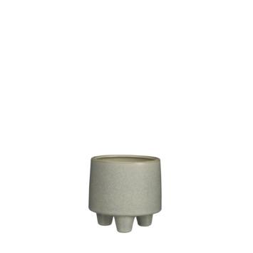 Pot manuel rond creme 11 x 11 cm