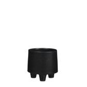 Pot manuel rond zwart 12,5 x 13 cm