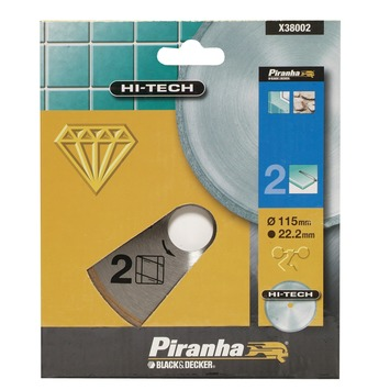 Piranha HI-TECH diamantblad volle rand X38002 115 mm