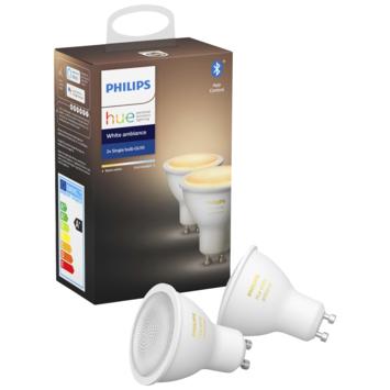 Philips Hue white Ambiance spot GU10 met bluetooth 2 stuks