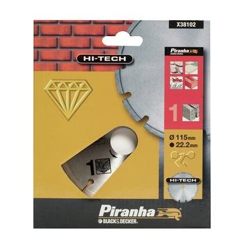 Piranha HI-TECH diamantblad gesegmenteerde rand X38102 115 mm
