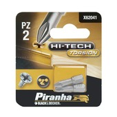 Piranha HI-TECH schroefbit X62041 PZ2 25 mm (2 stuks)