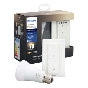 Philips Hue White Ambiance peer en dimmer startset met bluetooth