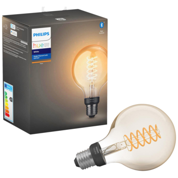 Philips Hue white LED filament Globe E27 met bluetooth