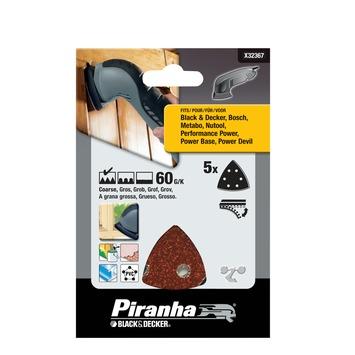 Piranha schuurpapier X32367 K60 (5 stuks) voor deltaschuurmachines
