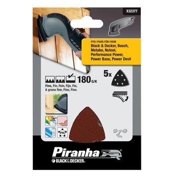 Piranha schuurpapier X32377 K180 (5 stuks) voor deltaschuurmachines
