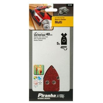 Piranha schuurpapier X31432 K40 (5 stuks) voor B&D Multi schuurmachine