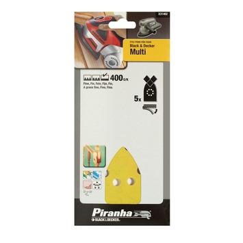 Piranha schuurpapier X31462 K400 (5 stuks) voor B&D Multi schuurmachine