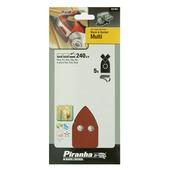 Piranha schuurpapier X31457 K240 100x170 mm (5 stuks) voor B&D Multi schuurmachines