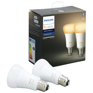 Philips Hue White Ambiance peer E27 met bluetooth 2 stuks